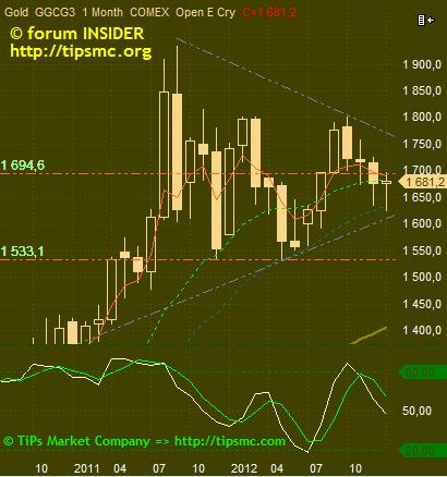 Gold. Перспективы роста/падения. Мой market view from 24/01/2013.